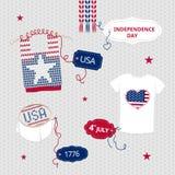 Vêtements de Jour de la Déclaration d'Indépendance Photo stock