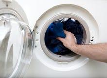 Vêtements de lavage Photographie stock libre de droits