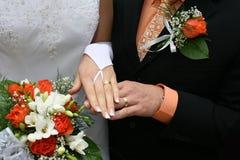 Vêtements de mariage Photographie stock