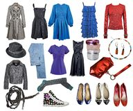 Vêtements de mode de ramassage photo stock