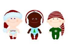 Vêtements de Noël d'enfants d'enfants Image libre de droits