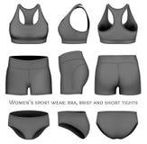 Vêtements de sport de vecteur de femmes Images libres de droits