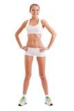 Vêtements de sport s'usants d'isolement de femme Photo libre de droits