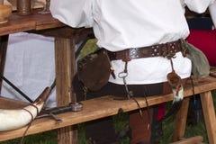Vêtements et ameublement italiens de la Renaissance. Photos stock