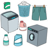 Vêtements et machine à laver Image stock