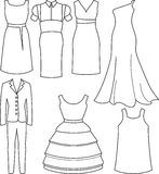Vêtements femelles Image stock