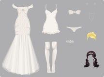 Vêtements femelles de mariage Photographie stock libre de droits