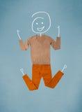 Vêtements placés dans l'action avec le dessin de femme Images libres de droits