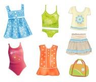 Vêtements pour des filles Photo stock