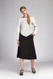 Vêtements sport de catalogue de style de mode de charme pour la femme d'affaires images stock