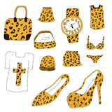 Vêtements texturisés de léopard Photo libre de droits