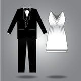 Vêtx l'illustration pour les deux sexes Image libre de droits