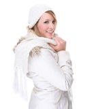 vêtx la femme blanche de l'hiver photographie stock libre de droits