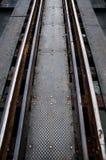 Vía del tren Foto de archivo
