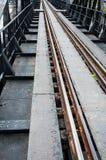 Vía del tren Fotografía de archivo