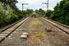 Vía del tren fotografía de archivo libre de regalías