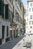 Vía di Porta Soprana, Génova Fotos de archivo