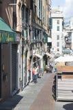 Vía di Porta Soprana, Génova Fotografía de archivo libre de regalías