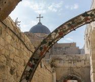 Vía Dolorosa, estación IX, ciudad vieja de Jerusalén imagen de archivo libre de regalías