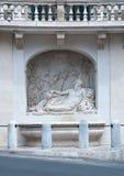 Vía el delle Quattro Fontane en Roma, Foto de archivo