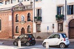 Vía el Pieta Vecchia en el centro histórico de Verona Fotos de archivo