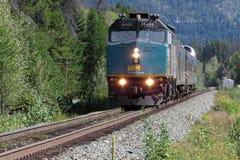 VÍA el tren de Canadá del carril imágenes de archivo libres de regalías