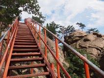 Vía ferrata en el parque nacional de Seoraksan, Corea del Sur Fotografía de archivo libre de regalías