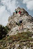 Vía Ferrata que sube en Austria Foto de archivo libre de regalías