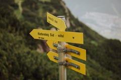 Vía Ferrata que sube en Austria Imagen de archivo libre de regalías