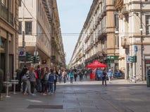 Vía Garibaldi Turin Imagenes de archivo