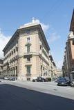Vía Giuseppe Macaggi, Génova Fotografía de archivo
