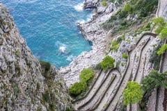 Vía Krupp en Capri Italia 1 fotografía de archivo libre de regalías