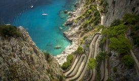 Vía Krupp en la isla de Capri, Italia foto de archivo libre de regalías