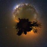 vía láctea de 360 planetas Imágenes de archivo libres de regalías