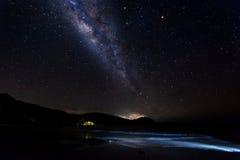 Vía láctea en el cielo Imagenes de archivo