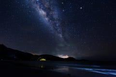 Vía láctea en el cielo Foto de archivo