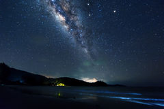 Vía láctea en el cielo Fotografía de archivo libre de regalías