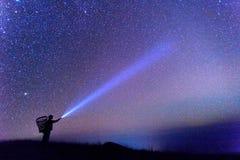 Vía láctea en el cielo Foto de archivo libre de regalías