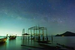Vía láctea en la isla de Yao noi imágenes de archivo libres de regalías