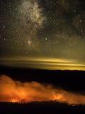 Vía láctea y estrellas Imagen de archivo libre de regalías