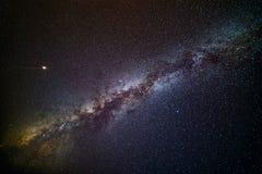 Vía láctea y Marte fotografía de archivo libre de regalías