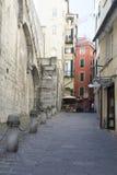 Vía la calle de di Ravecca en Génova, Italia imagenes de archivo