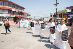 Vía la celebración de Crucis Fotografía de archivo