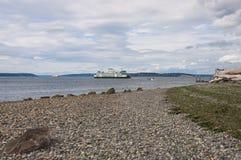 Vía marítima entre Mukilteo y Clinton Imágenes de archivo libres de regalías
