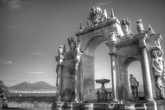 Vía partenope en Nápoles Imagen de archivo