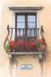 Vía Romana - balcón italiano Fotografía de archivo libre de regalías