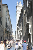 Vía San Lorenzo, Génova Imagen de archivo
