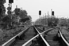 Vías de ferrocarriles Fotos de archivo