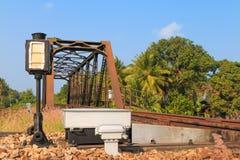 Vías de ferrocarriles Foto de archivo libre de regalías