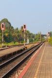 Vías de ferrocarriles Fotografía de archivo libre de regalías